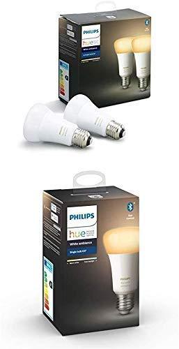 3 Ampoules LED connectées Philips Hue White Ambiance E27 Compatible Bluetooth