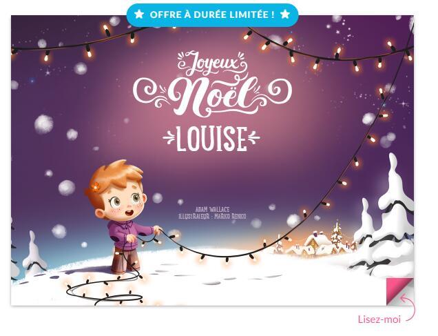 20% de réduction sur les livres de Noël personnalisables (hourraheros.fr)