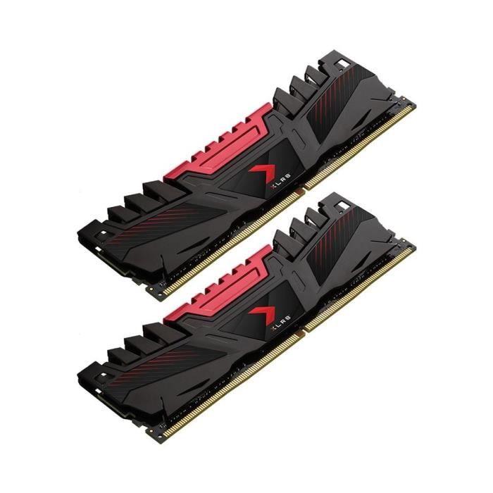 Lot de 2 barrettes RAM PNY XLR8 16 Go (2 x 8 Go) - 3200 MHz, CAS 16