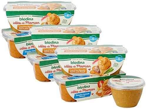 12 repas Blédina Idées de Maman - 3 Lots de 4 x 200g (dès 6 mois)