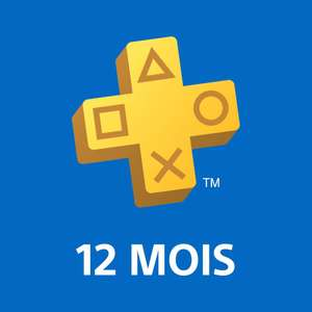 Abonnement de 12 mois au PlayStation Plus - Compte français (dématérialisé)