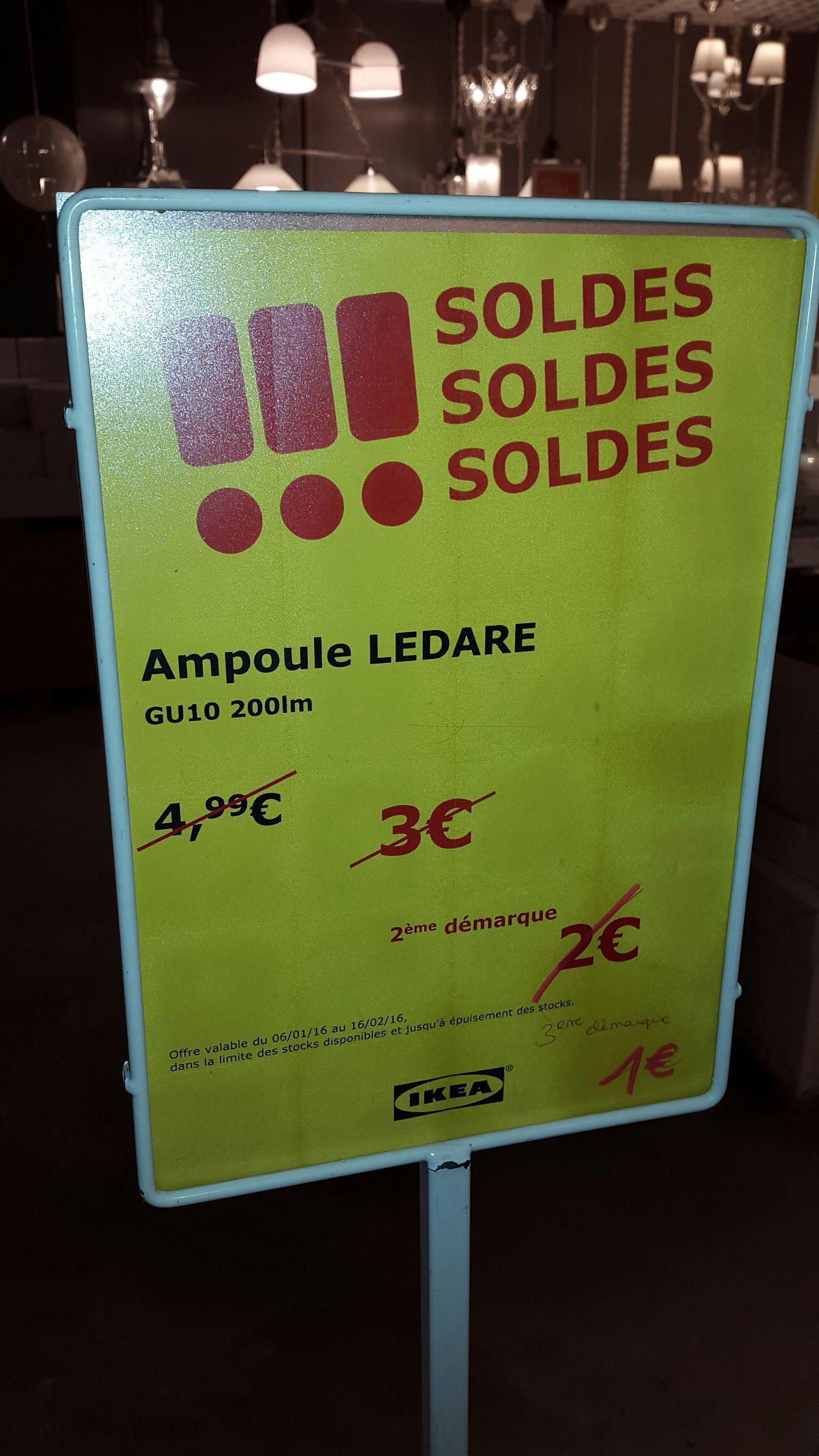 Ampoule LED Ledare GU10 200lm