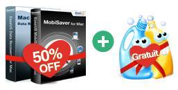 Sélection de logiciels EaseUS en promo - Ex : Data Recovery Wizard + MobiSaver + CleanGenius pour mac