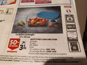 Boite Pyrex Cook and Store en verre
