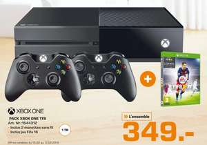 Pack Console Microsoft Xbox One 1 To  2 manettes + Fifa 2016