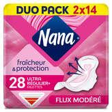 Lot de 2 paquets de serviettes hygiéniques Nana - 2 x 28