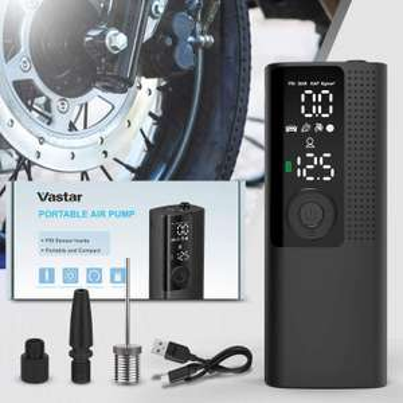 Gonfleur automatique Vastar Rechargeable - 120psi - 2000 mAh (Vendeur Tiers)