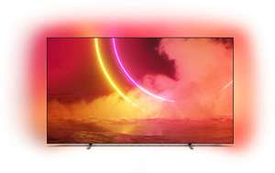 """TV 55"""" Philips 55OLED805 - 4K UHD, OLED, Smart TV, Ambilight 3 côtés"""