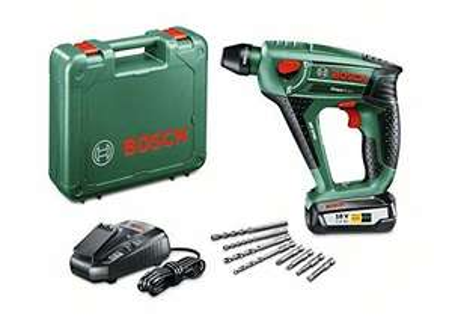 Perforateur sans fil Bosch Expert Uneo Maxx, Coffret 1 Batterie 2,5 Ah, 4 Forets