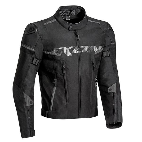 Blouson de moto en textile Ixon Sirocco - Toutes saisons, Doublure étanche amovible, gilet thermique amovible (Taille au choix)