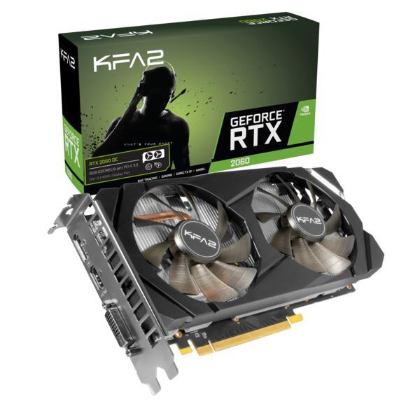Carte graphique KFA2 GeForce RTX 2060 1-Click OC - 6 Go