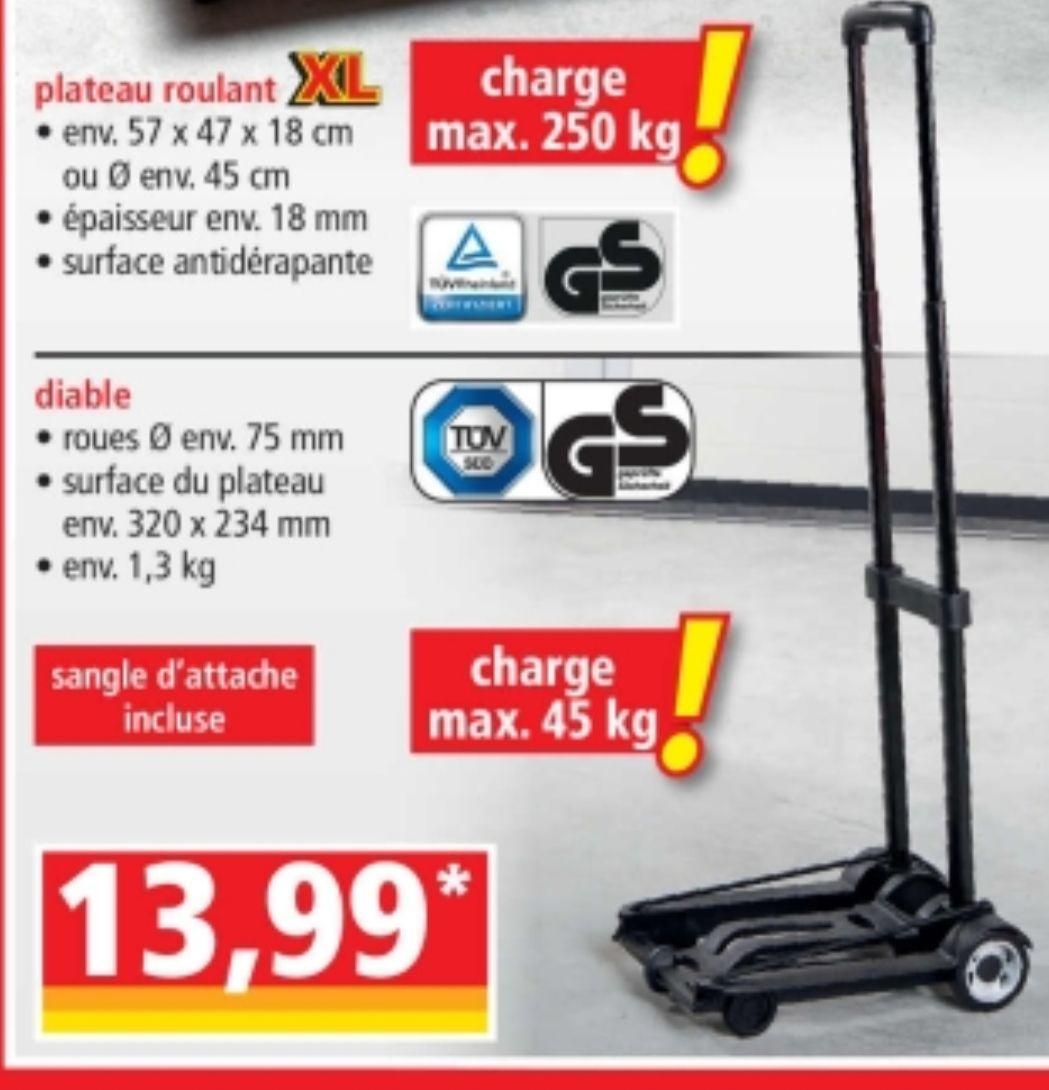 Diable de transport - Charge 45Kg