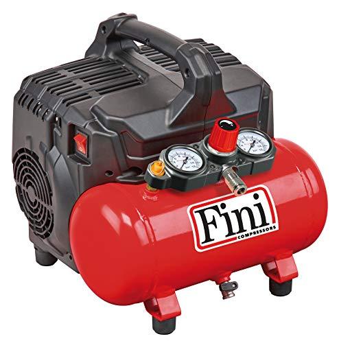 Compresseur Fini Siltek S/6 - 2 manomètres (59 dB), 6 L, 1,0 HP