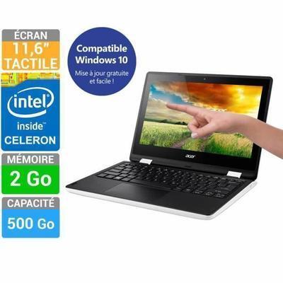 "PC portable 11.6"" tactile Acer Aspire R3-131T-C274  (N3050, 2 Go Ram , 500 Go HDD, Windows 8.1)"