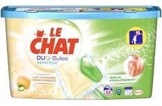 1 Boite de 32 Capsules de Lessive Le Chat Duo-Bulles (Via 3,83€ sur Carte de Fidélité + BDR/ODR)