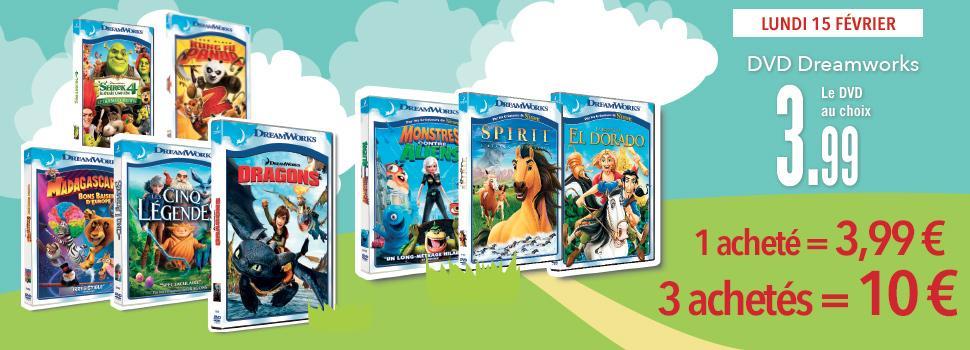Sélection de DVD Dreamworks
