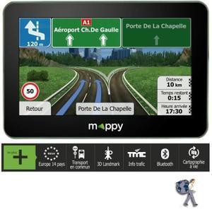 """GPS 4"""" Mappy S449 - 14 pays (Cartes et Trafic gratuits à vie)"""