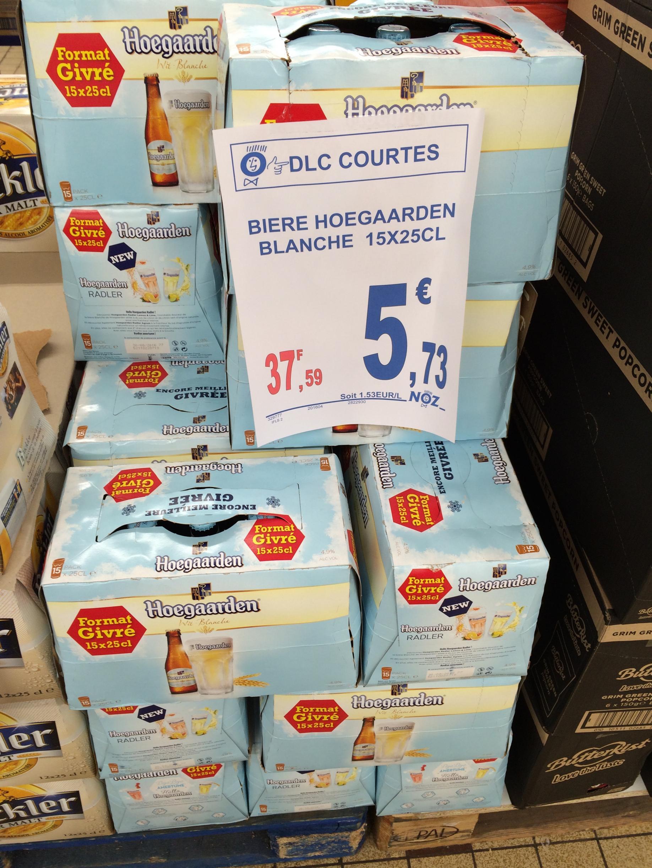 Pack de Bières Hoegaarden Blanche 15 x 25 cL (DLC courtes)