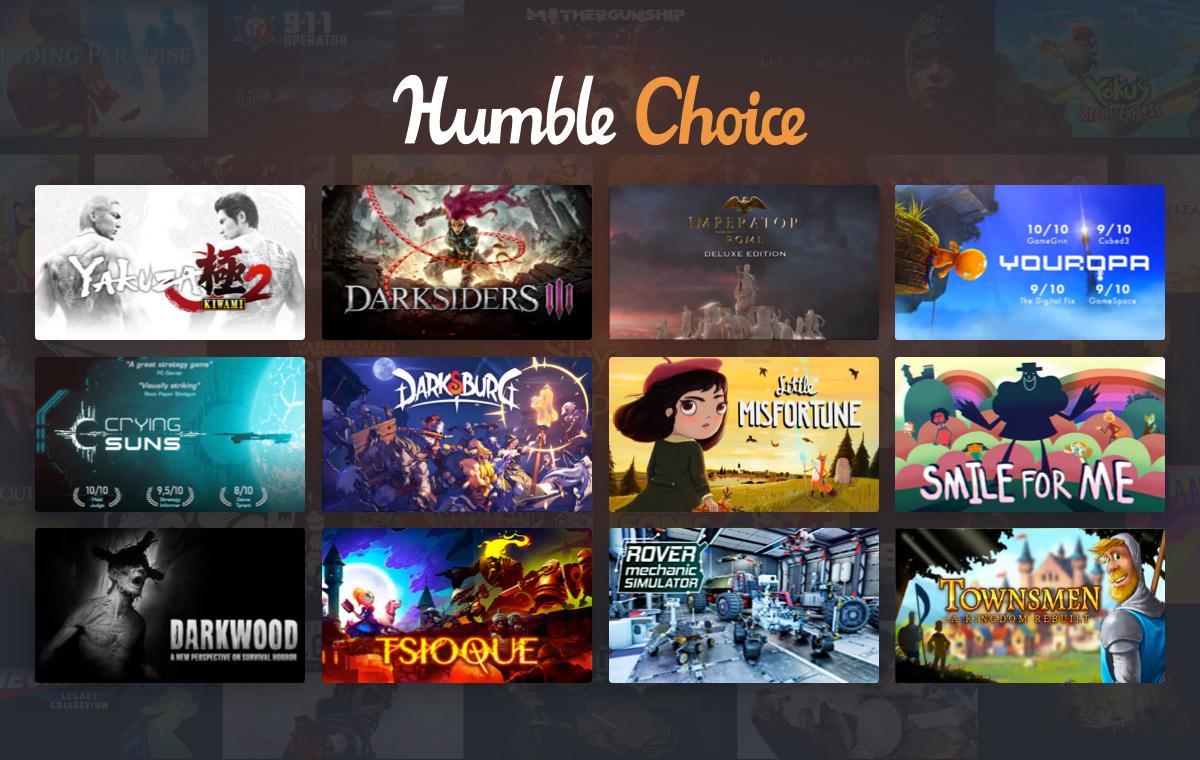 Humble Bundle Choice - Novembre 2020 : Yakuza 2 + Darksiders III + 8 Jeux sur PC (Dématérialisé - Steam)