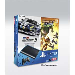 Console PS3 12 Go + Gran Turismo 5 + Ratchet & Clank : All 4 One