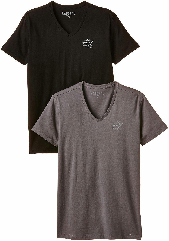 Lot de 2 T-shirts Kaporal Manches courtes - Homme (Tailles S, M et XL)