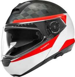 Casque Moto modulable Schuberth C4 Pro Carbon - Delta White (Tailles S, M, L)