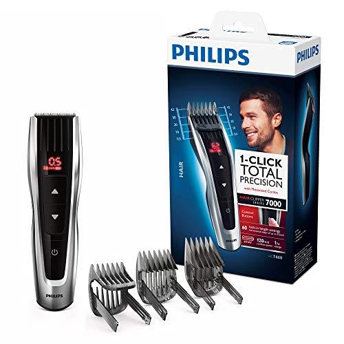 Tondeuse cheveux Philips HC7460/15 avec sabots motorisés - Gris/Noir