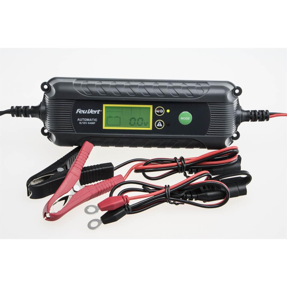 Chargeur Batterie voiture automatique Feu Vert - 4A