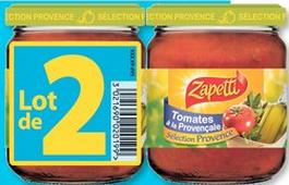 Sauces sélection provence zapetti (lot de 2 x 190 g) en magasin