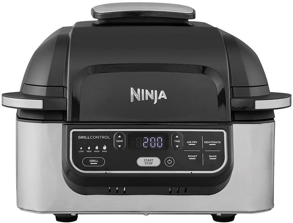 Ninja Foodi Grill & Air Fryer - 5.7L, 1 760 W, Noir/Acier