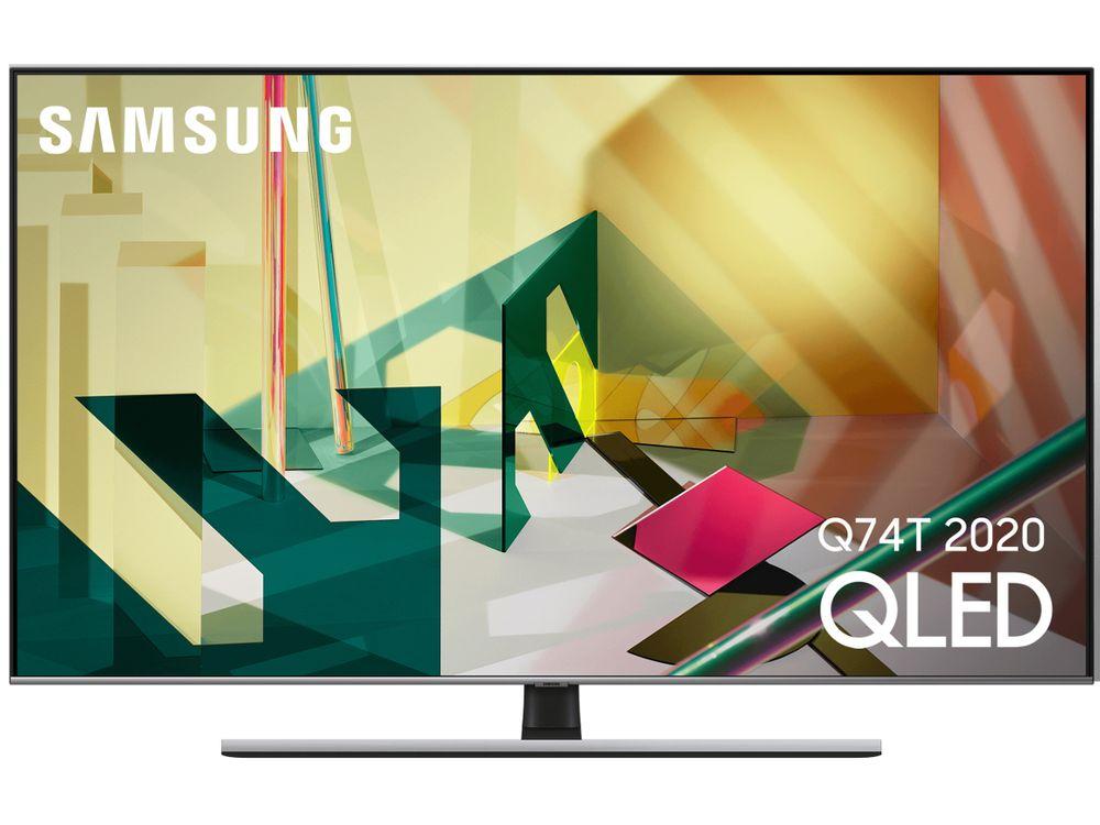 """TV 55"""" Samsung QE55Q74T (2020) - QLED, 4K UHD, 100 Hz, HDR 1000, Smart TV (Via ODR de 200€)"""