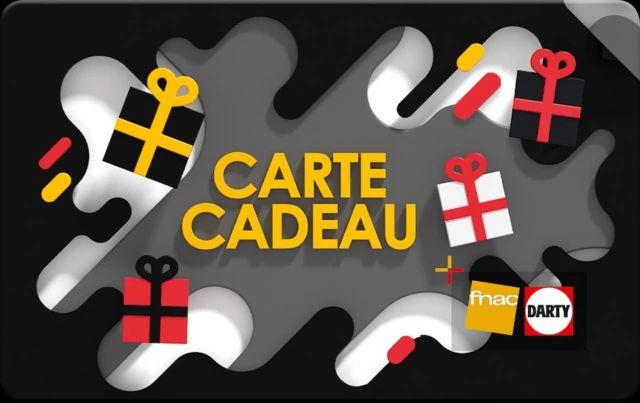 5€ de réduction sur une sélection de cartes cadeau - Ex : E-carte cadeau Fnac-Darty de 50€