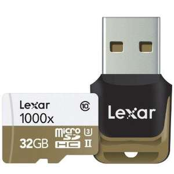 Carte micro SDHC Lexar Professional 1000x UHS-II U3 150MB/s - 32 Go