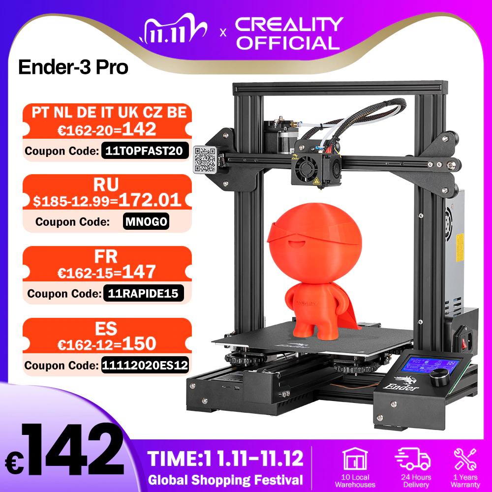 Imprimante 3D Creality3D Ender 3 Pro /Ender 3 V2(143,42€/176,05€ via code 11RAPIDE15)
