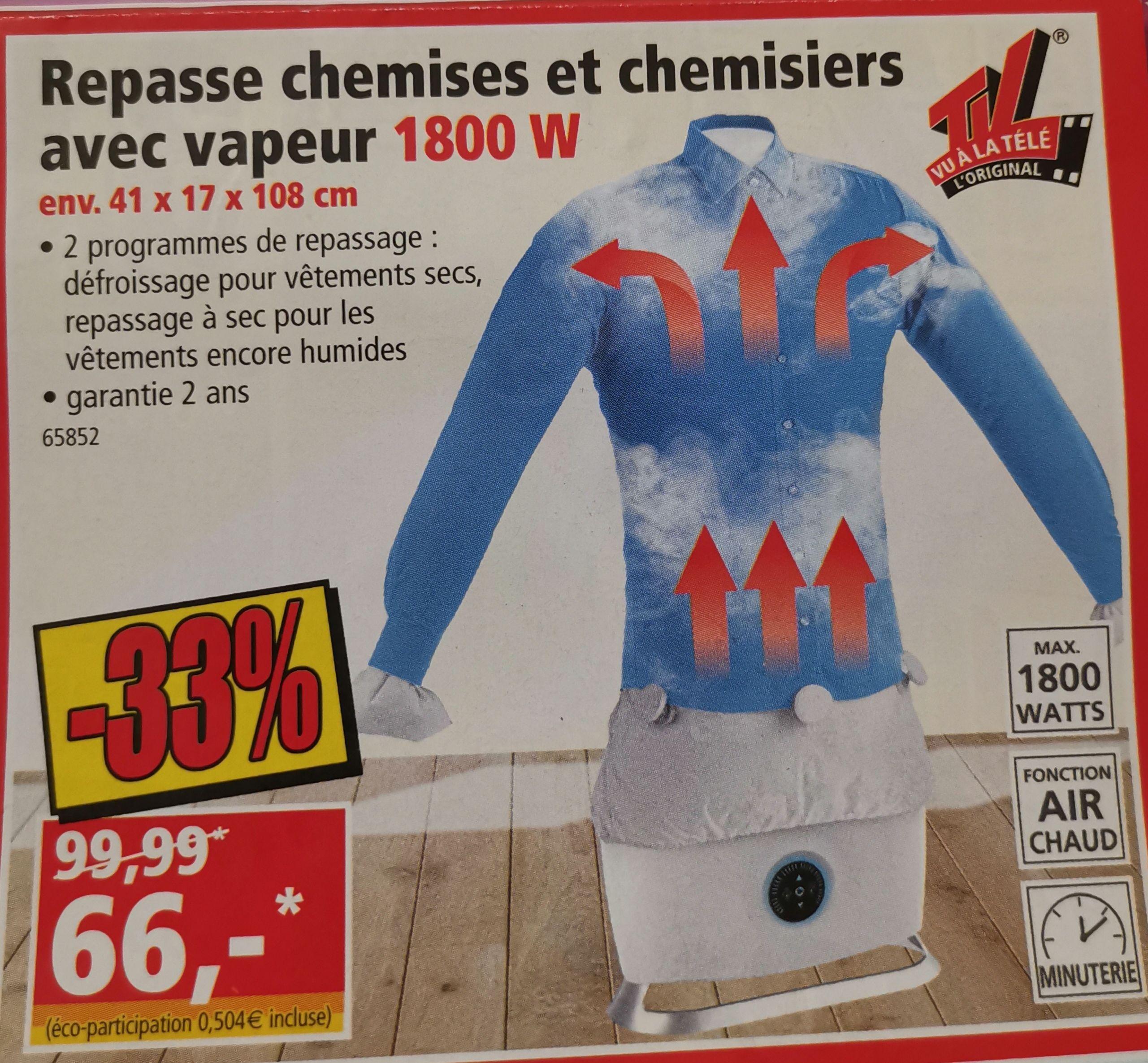 Repasse chemise et chemisier à vapeur