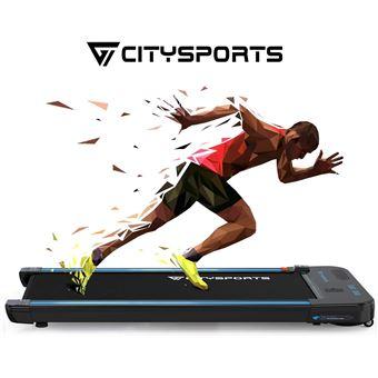 Tapis de course Citysports - Moteur 440W, Bluetooth Haut-parleurs, Écran LCD & Compteur de Calories (Vendeur tiers)