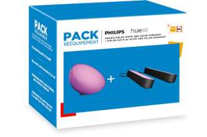 Kit Philips Hue : 2 Lampes connectées Hue Play + Lampe Hue Go (Via retrait 1h en magasin)