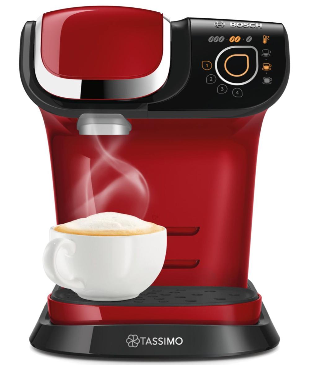 Machine Multi-Boissons Bosch TAS6003 - 1300 W, 1,3 L, Rouge ou Blanc
