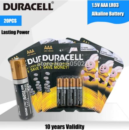Lot de 20 piles 1.5V AAA Duracell