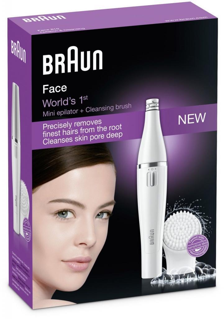 Combiné Épilateur visage  & Brosse nettoyante Braun Face 810 avec micro-oscillations