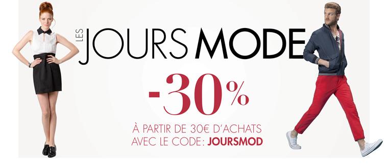 30% de réduction sur une sélection de vêtements (à partir de 30€ d'achat)