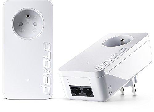 Pack de 2 CPL Devolo 9298 dLAN 550 Duo+ Prise Réseau