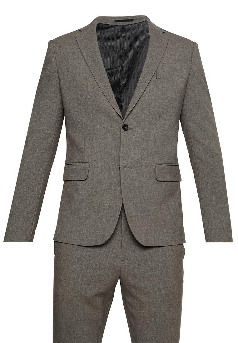 Costume homme Lindbergh Plain Mens Suit - Couleur light brown, tailles au choix