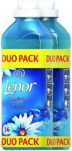 2 Bouteilles d'adoucissant liquide Lenor - 2x 36 Lavages (Diverses variétés (Via 4.54€ sur Carte Fidélité)