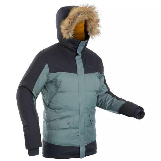 Parka chaude imperméable de randonnée Quechua Light SH500 X-Warm pour Homme