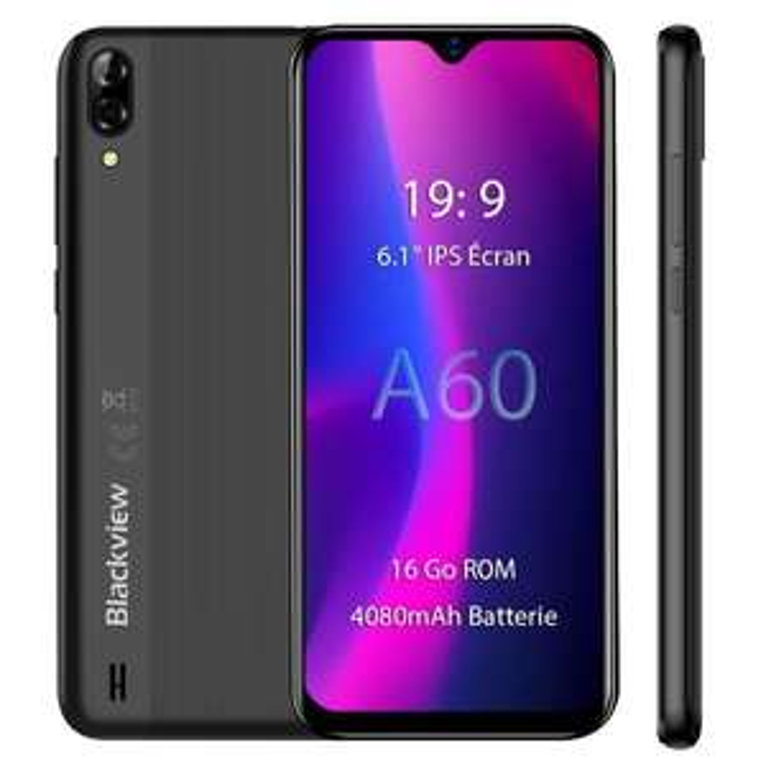 "Smartphone 6.1"" Blackview A60 - HD+, RAM 1Go, 16Go (Vendeur Tiers)"