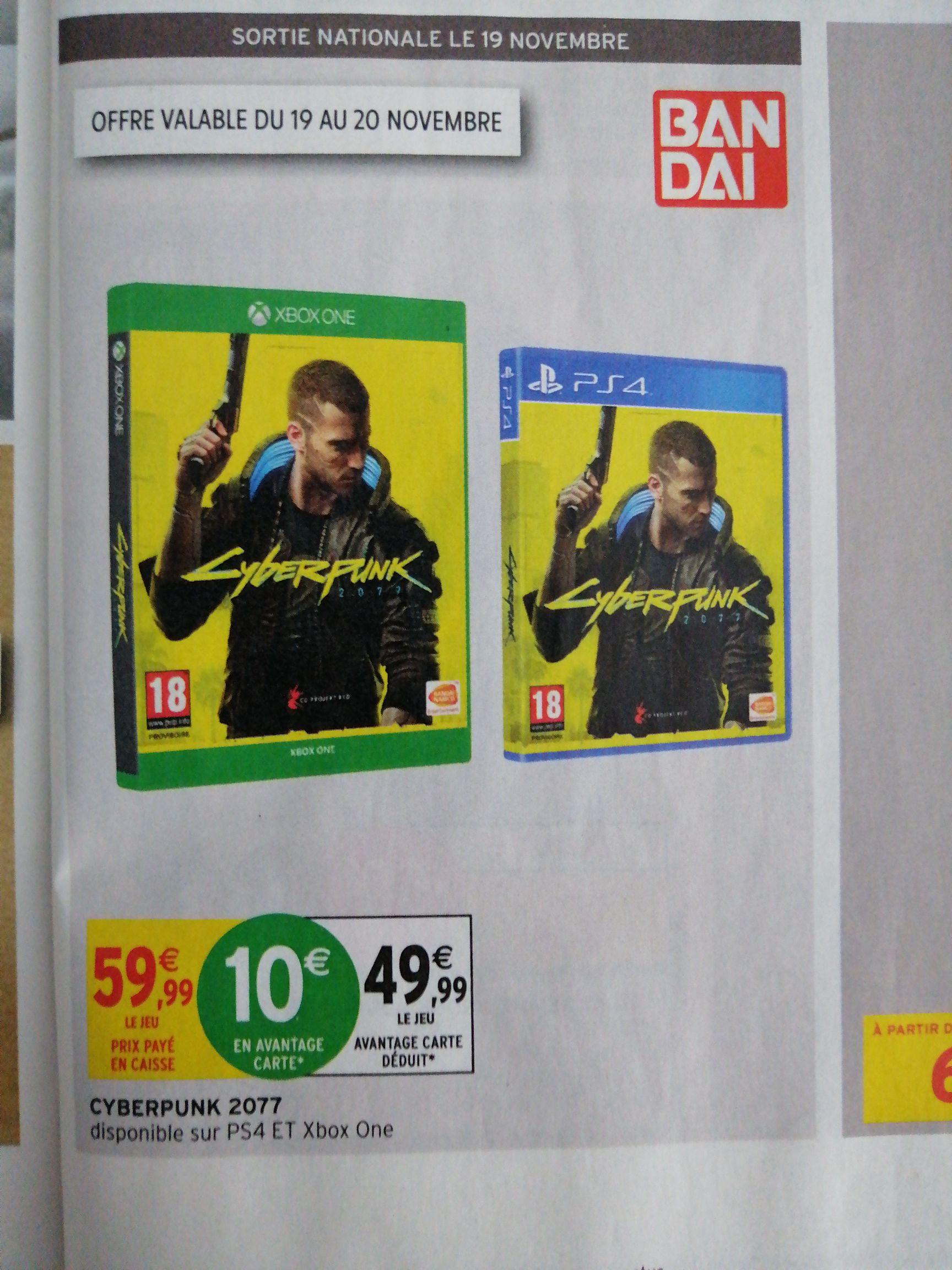 Cyberpunk 2077 sur PS4 ou Xbox One - Via 10€ sur la carte fidélité (Via Drive ou C&C)