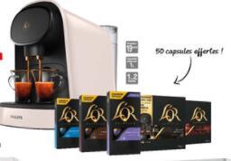 Machine à café à dosettes double espresso Philips L'or Barista LM8012 + 50 dosettes (via 10€ sur la carte de fidélité)
