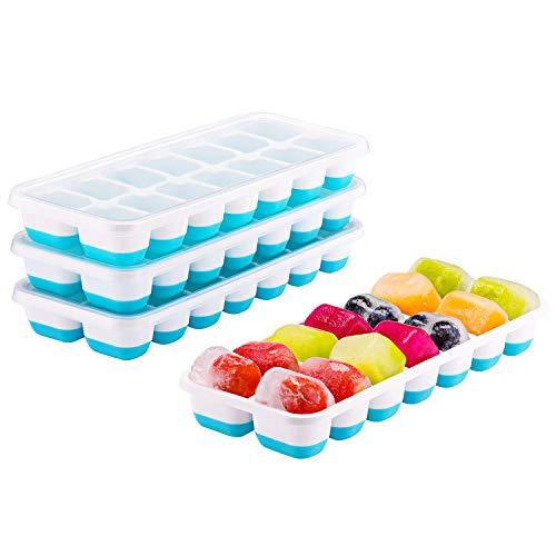 4 Bacs à glaçons en Silicone Topelek - 14 Blocs Glaçons, sans BPA, LFGB (Vendeur tiers)