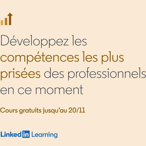 Sélection de 5 cours en ligne LinkedIn Learning gratuits (les compétences les plus prisées de l'année, dématérialisés) - LinkedIn.com